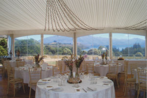 Wanaka Wedding Marquee set up at The Olive Grove Venue